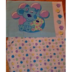 Blues Clues Crib Toddler Fitted Sheet and Pillowcase Bedding by Dreamt Time Kids Bedding