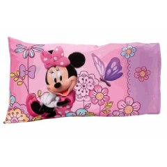 Disney Minnie Mouse Boutique Toddler Bed Sheet and Pillowcase 2 Pieces Set by Crown Crafts