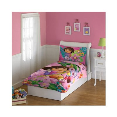 Toddlers Bedding Set 4 Pieces by Dora the Explorer