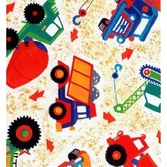 Fitted Crib / Toddler Sheet Construction Trucks design by SheetWorld