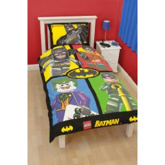 Batman Cards Single Panel Duvet Cover by Lego
