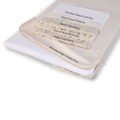 Natural Cotton Changing Table Pad with Organic Cotton Coverlet by Moonlight Slumber