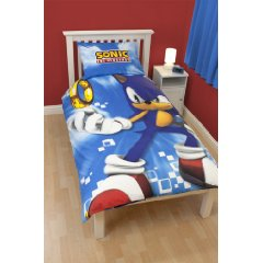 Single Bed Duvet Quilt Cover Set Spin Sonic the Hedgehog by Linenideas