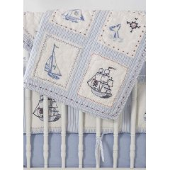 Whistle and Wink High Seas Nursery Quilt by Rosenberry Rooms