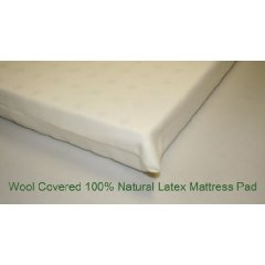 All Natural Latex Wool covered Pads comes in 6 sizes OrganicTextiles