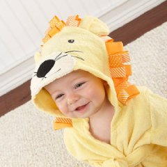 Baby Lion Hooded Spa Robe with Big Top by Baby Aspen