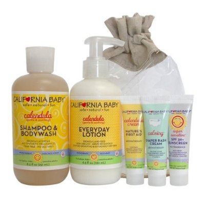 California Baby Calendula Newborn Tote Gift Set 5 pieces Set
