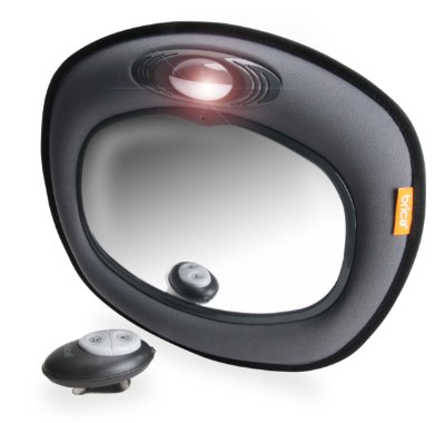 Day and Night Light Musical Auto Mirror for Car Safety Grey by Brica