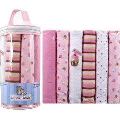 Flannel Receiving Blankets by Luvable Friends Pack of 6