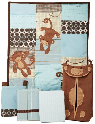 Giggles Crib Bedding Set Comes in 5 Pieces by Lambs & Ivy