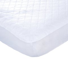 Keep Me Dry Waterproof Fitted Quilted Crib Pad White color by Carter's