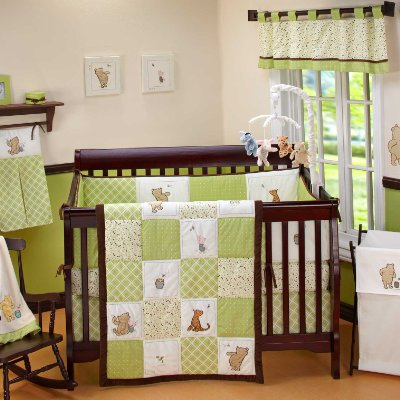 My Friend Pooh Baby Crib Bedding Set Comes in 4 Pieces by Disney Baby