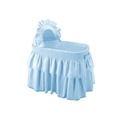 Paradise Rainbow Blue Bassinet Liner Skirt and Hood by Baby Doll