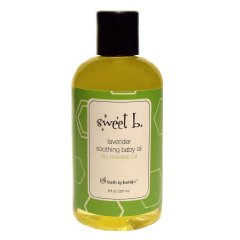 Soothing Baby Oil Lavender by Sweet B. 8 Ounce Bottle