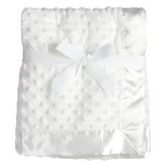 Textured Dot Blanket with Satin Trim by Baby Starters