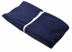 Zachary Embossed Navy Changing Table Cover by Nautica