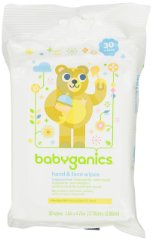 Hand and Face Wipes Fragrance-Free by Babyganics