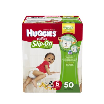 Little Movers Slip-On Diapers Big Pack by Huggies