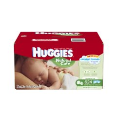 Natural Care Baby Wipes Refill by Huggies