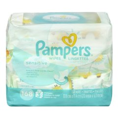 Sensitive Wipes 3x Travel Pack by Pampers