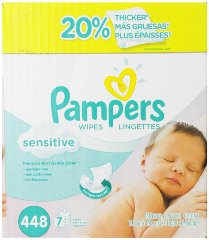 Sensitive Wipes 7x Box 448 Count by Pampers