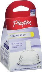 NaturaLatchNipple Medium Flow by Playtex