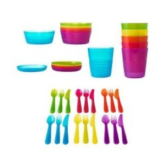 Dinnerware Set Assorted Colors 'BPA-free' by Ikea