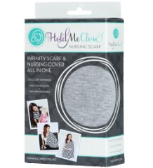 Nursing Scarf 'Solid Light Gray' by Hold Me Close