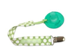 PaciGrip Pacifier Holder 'Delicate Dot Green' by Booginhead