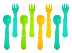 Re-Play Utensils 'Aqua - Green - Orange'