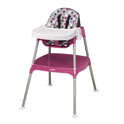 Convertible High Chair 'Dottie Rose' by Evenflo