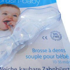 Soft Clear Chewable Toothbrush by Brush-Baby