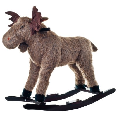 Max Moose Plush Rocking Ride-On by Happy Trails
