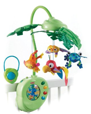 Musical Mobile 'Rainforest Peek-a-Boo Leaves' by Fisher-Price