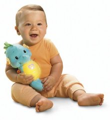 Soothe and Glow Seahorse 'Blue' by Fisher-Price