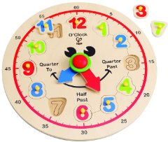 Clock Time Learning Puzzle by Hape