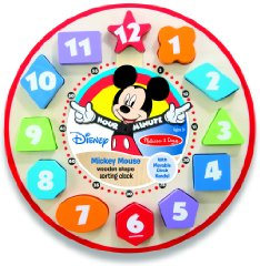 Mickey Mouse Shape Sorting Clock