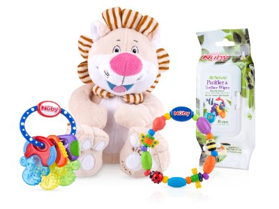 Teether and Toy Gift Set by Nuby