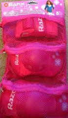 Pink Youth Knee Elbow Protective Pads