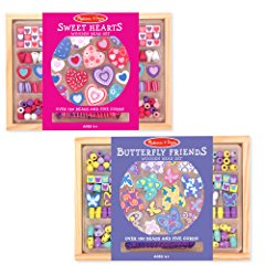 Sweet Hearts and Butterfly Friends Bead Set by Melissa & Doug