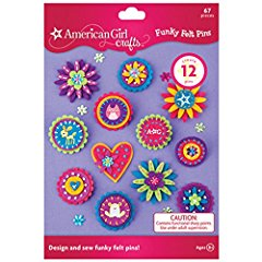Funky Felt Pins Kit by American Girl Crafts