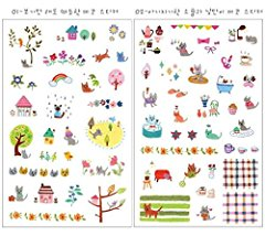 Surprising Cute Cat Sticker Scrapbooking Sticker Set