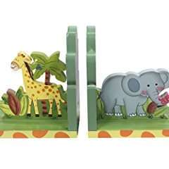 Animals Wooden Bookends for Kids
