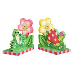Magic Garden Thematic Wooden Bookends for Kids