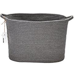 Sea Team Oval Storage Basket Bin Hamper