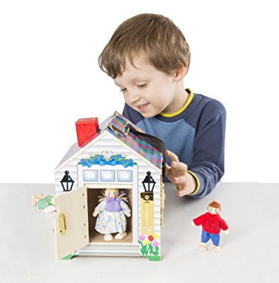 Melissa & Doug Wooden Doorbell Dollhouse