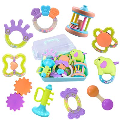 10 Baby Rattles Infants Teething Play Toys