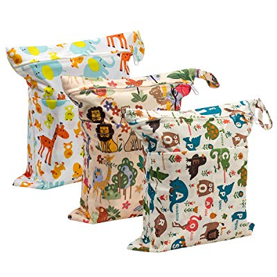 Biubee 3 Pack Wet Dry Cloth Diaper Bags
