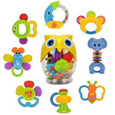 Happytime 8pcs Latest Rattle & Teether Toys