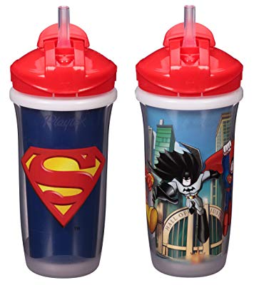 Playtex Sipsters Stage 3 Super Friends Straw Sippy Cups